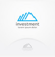 investment logo vector image vector image