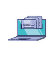laptop computer and document with password vector image vector image