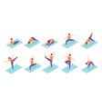 Man yoga poses boy fitness exercise isometric