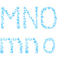 MNO letters vector image