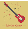 Musical instruments graphic template Electric vector image vector image