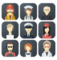 Occupations Icons Set vector image vector image