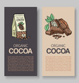 original finest chocolate packaging vector image