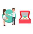 proposal boyfriend poster vector image