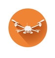 quadcopter symbol vector image vector image
