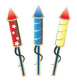 ready to launch firework rockets vector image vector image