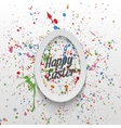Realistic Easter paper Egg Banner with Type vector image vector image