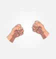 realistic sketch hands - gestures hand-drawn icon vector image vector image
