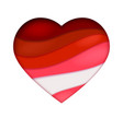 red heart cutting from the paper abstract art vector image