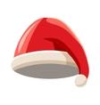 Red Santa Claus hat icon cartoon style vector image vector image