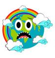 sad earth emote earth day vector image vector image