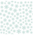 seamless art pattern with snowflakes on white vector image vector image