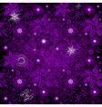 Seamless dark violet vintage pattern vector image vector image