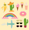 set of mexico and travel stickers flat vector image vector image