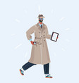 spy man in coat and hat vector image