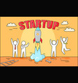 startup big image and rocket vector image