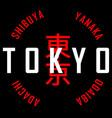 tokyo slogan vector image