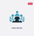 two color group meeting icon from people concept vector image vector image