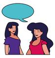 two women design vector image vector image