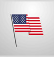 united states of america waving flag design vector image