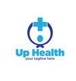 up health logo designs vector image vector image