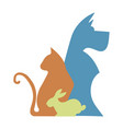 veterinary logo for pet shop vector image vector image