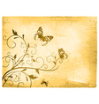Vintage Butterfly Background vector image