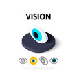 Vision icon in different style vector image