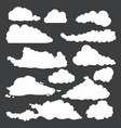 white silhouette shapes clouds vector image vector image