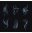 Cigarette smoke or mist on transparent background vector image