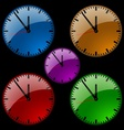 Glass Dial Clock vector image