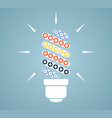 simple light bulb conceptual icon with colorful vector image