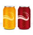 design template can cola orange juice drink vector image