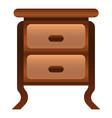 antique nightstand icon cartoon style vector image vector image