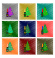 assembly flat shading style christmas tree vector image vector image