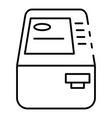 bank atm icon outline style vector image vector image