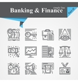 Banking and Financ icons vector image vector image