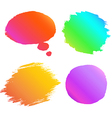 Banner paint gradient set vector image vector image