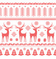 beautiful seamless pattern with gorgeous deer vector image vector image