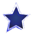blue star icon art vector image