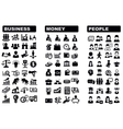 business money and people icon vector image vector image