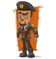Cartoon army general with beret vector image vector image