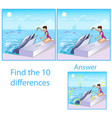children visual puzzle shows ten differences vector image vector image