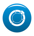 circle chart icon blue vector image