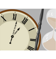 clock and hourglass vector image vector image