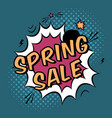 colorful pop art with spring sale discount vector image
