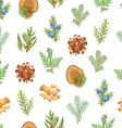 Coniferous pine wood and resin seamless pattern vector image vector image
