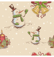 Creative seamless Christmas hand drawn texture vector image