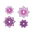 Decorative floral pattern motif flower vector image vector image