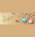 easter holiday banner vector image vector image